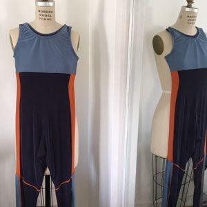 Colorblocked vintage bodysuit